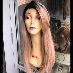 Accessories - Long sidepart Wig lacefront NEW COLOR Blonde mix